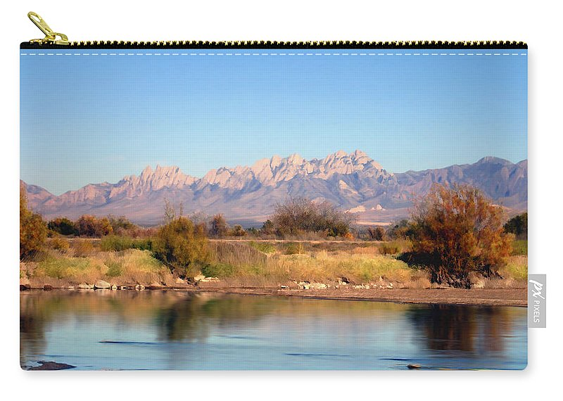 River Carry-all Pouch featuring the photograph River View Mesilla by Kurt Van Wagner