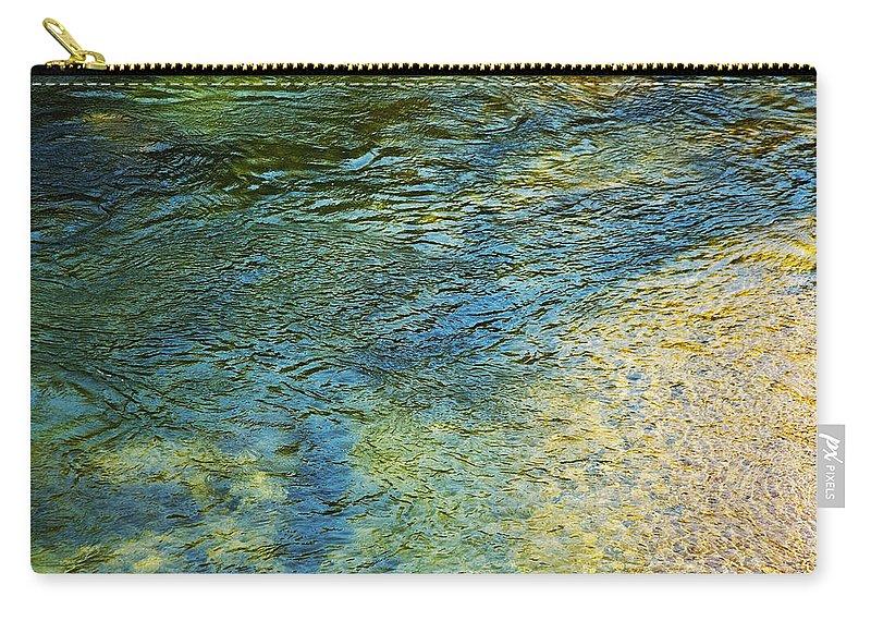 Nature Carry-all Pouch featuring the photograph River Water 1 by Belinda Greb