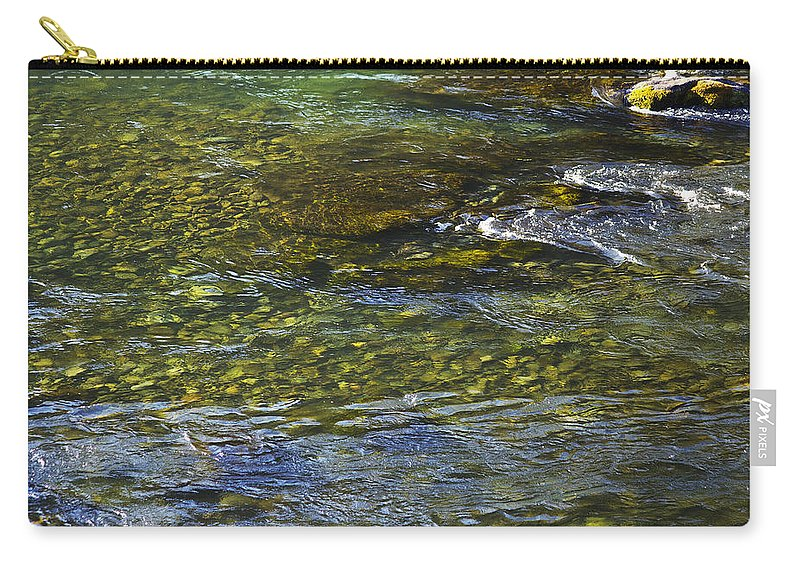 River Carry-all Pouch featuring the photograph River Water 2 by Belinda Greb