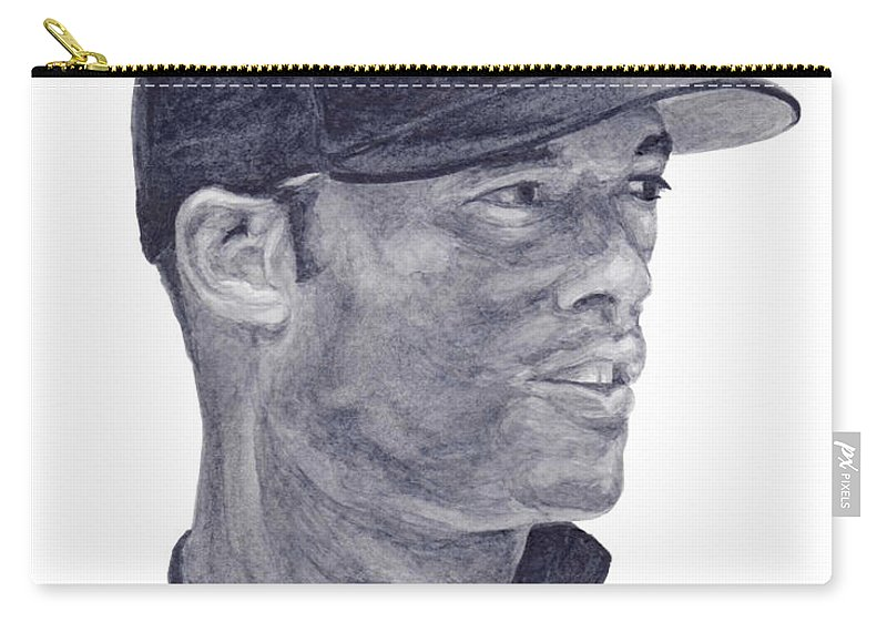 Mariano Rivera Carry-all Pouch featuring the painting Rivera by Tamir Barkan