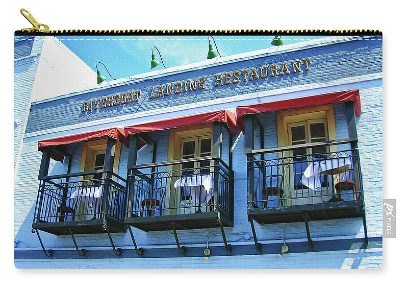 Water Street Carry-all Pouch featuring the photograph Riverboat Landing 0769 by Guy Whiteley