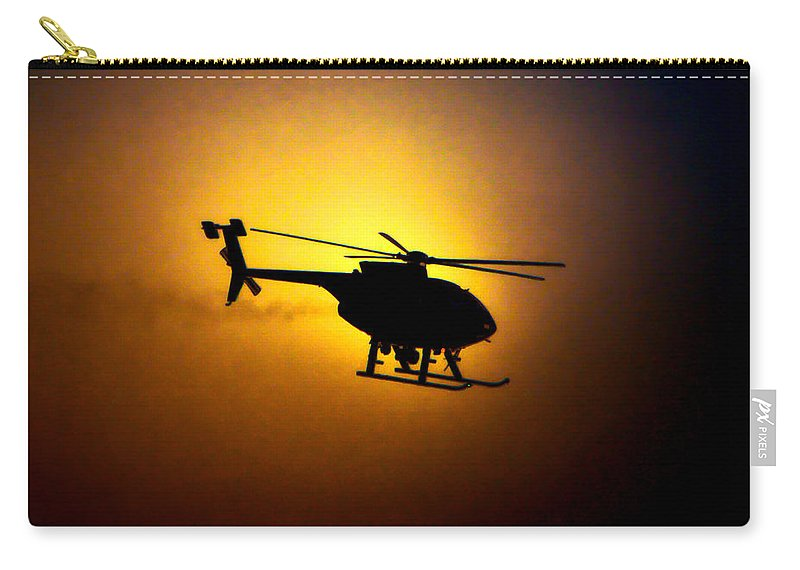 Air Support Unit Carry-all Pouch featuring the photograph Riverside Ca Pd Air Support by Tommy Anderson