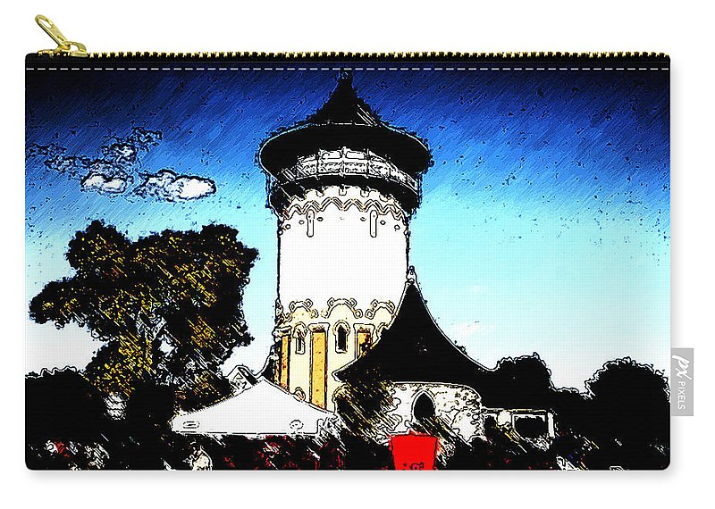 Riverside Carry-all Pouch featuring the photograph Riverside by Verana Stark