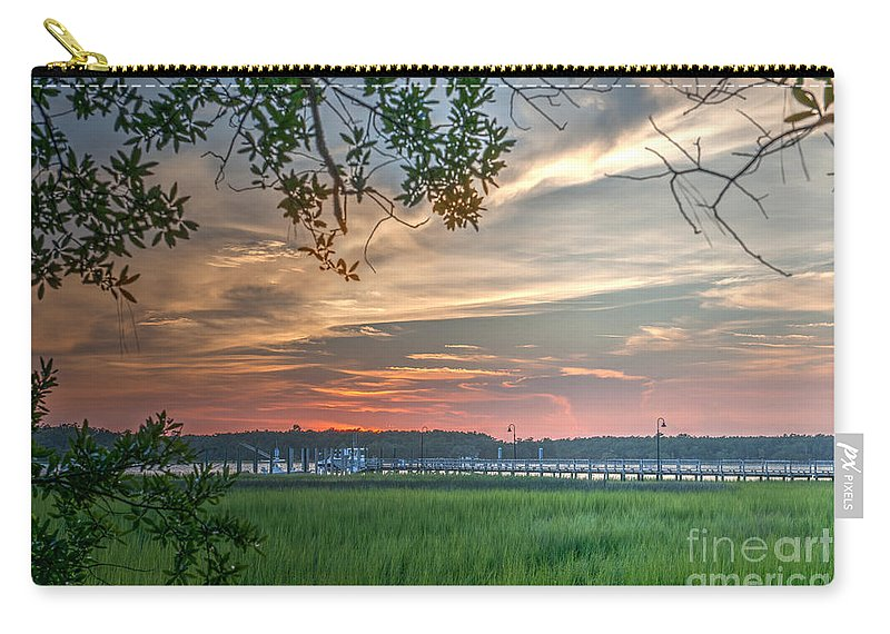 Sunset Carry-all Pouch featuring the photograph Rivertown Sunset by Dale Powell