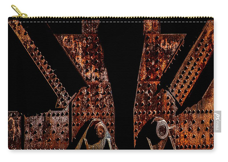 Rivets Carry-all Pouch featuring the photograph Rivets Number Three by Bob Orsillo