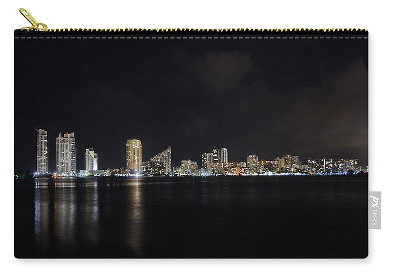 Night Scape Carry-all Pouch featuring the photograph Riviera Nights by Keith Armstrong