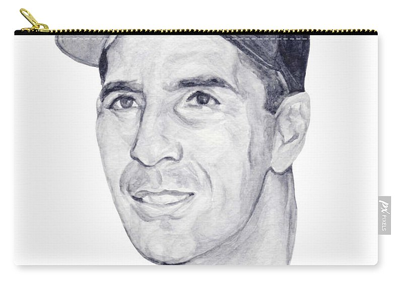 Phil Carry-all Pouch featuring the painting Rizzuto by Tamir Barkan