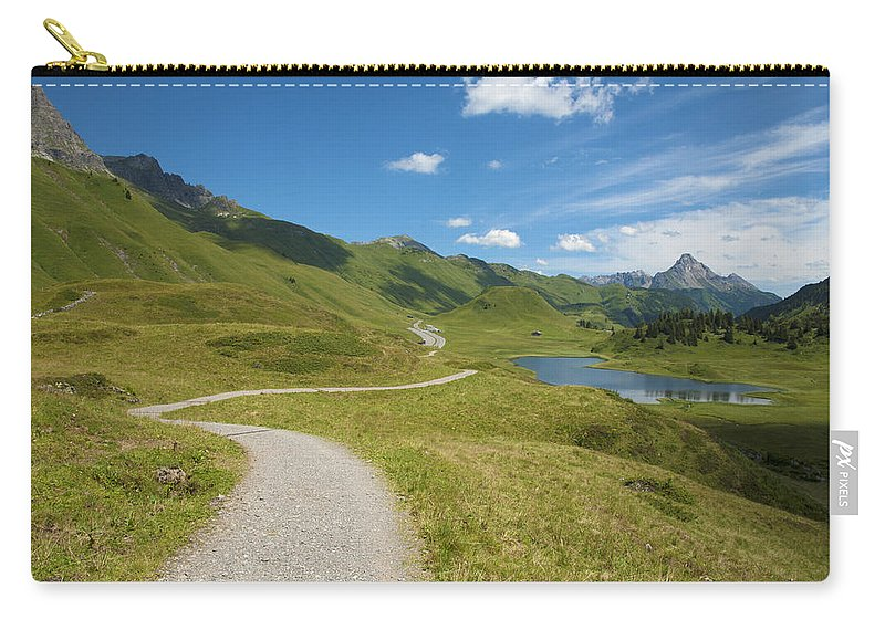 Road Carry-all Pouch featuring the photograph Road In The Mountains by Chevy Fleet