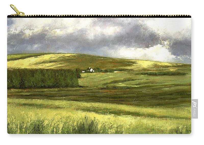 Irland Carry-all Pouch featuring the painting Road to Ardara by Jim Gola