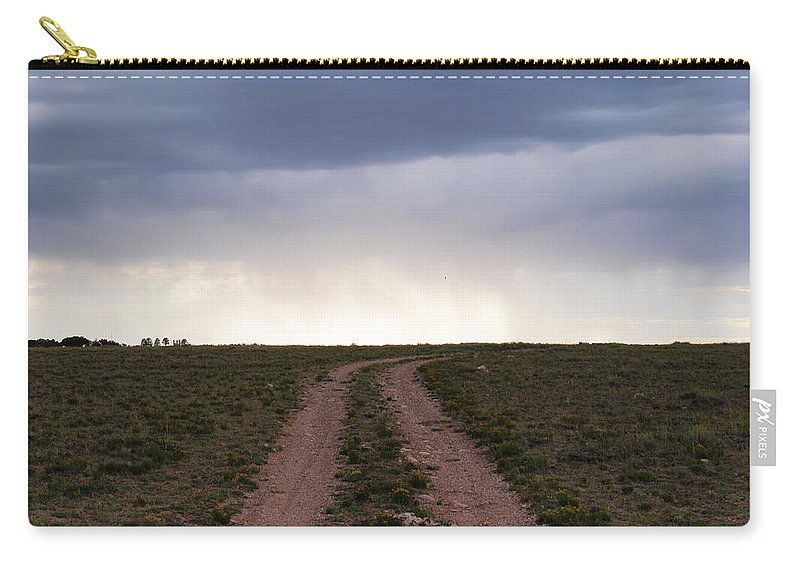 Utah Carry-all Pouch featuring the photograph Road To The Rain by Joshua House