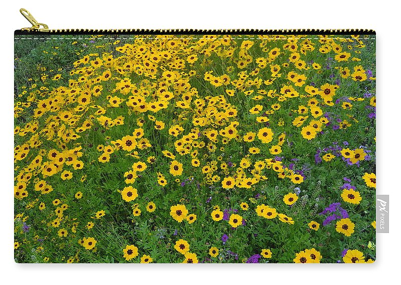 Wild Flowers Carry-all Pouch featuring the photograph Roadside Beauty by Karin Dawn Kelshall- Best