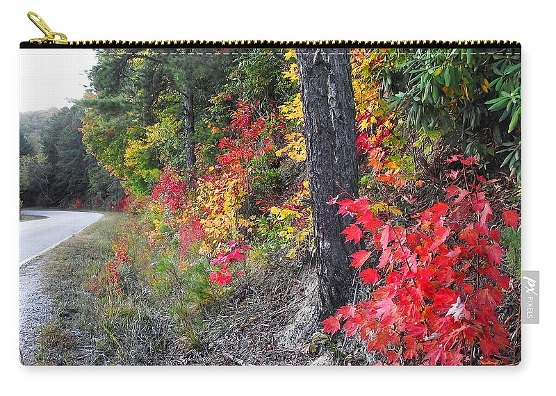 Plants Carry-all Pouch featuring the photograph Roadside Fall Colors by Duane McCullough