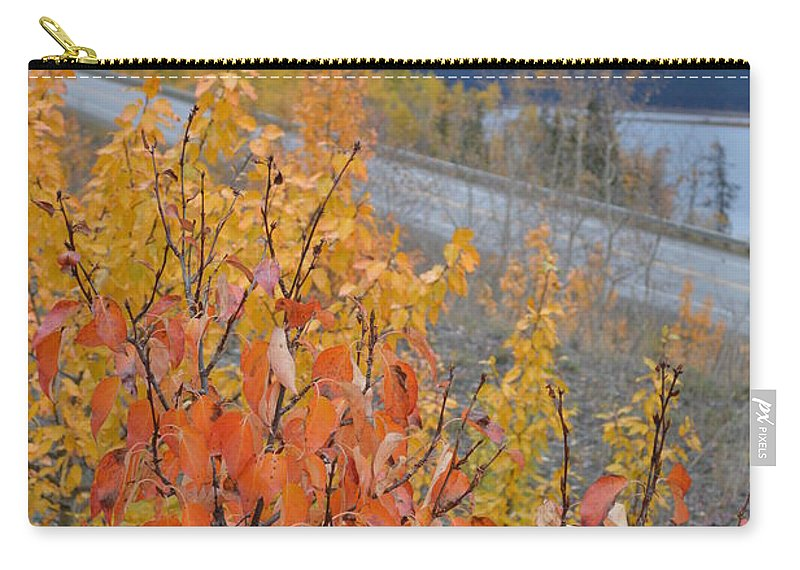 Roadside Carry-all Pouch featuring the photograph Roadside Reds by Brian Boyle