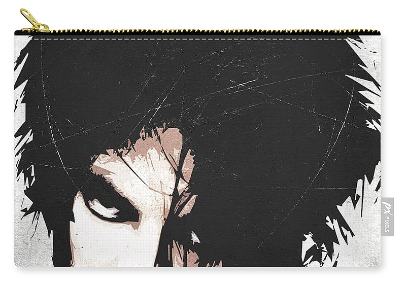 Robert Carry-all Pouch featuring the digital art Robert Smith by Filippo B