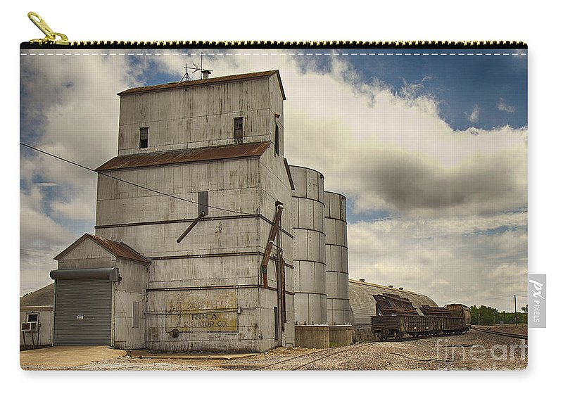 Elevator Carry-all Pouch featuring the photograph Roca Nebraska Elevator by Pam Holdsworth