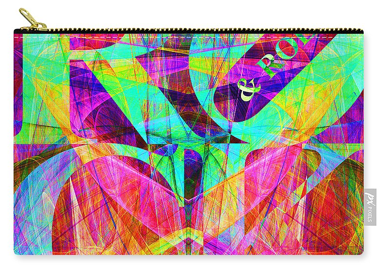 Abstract Carry-all Pouch featuring the digital art Rock And Roll 20130708 Fractal by Wingsdomain Art and Photography