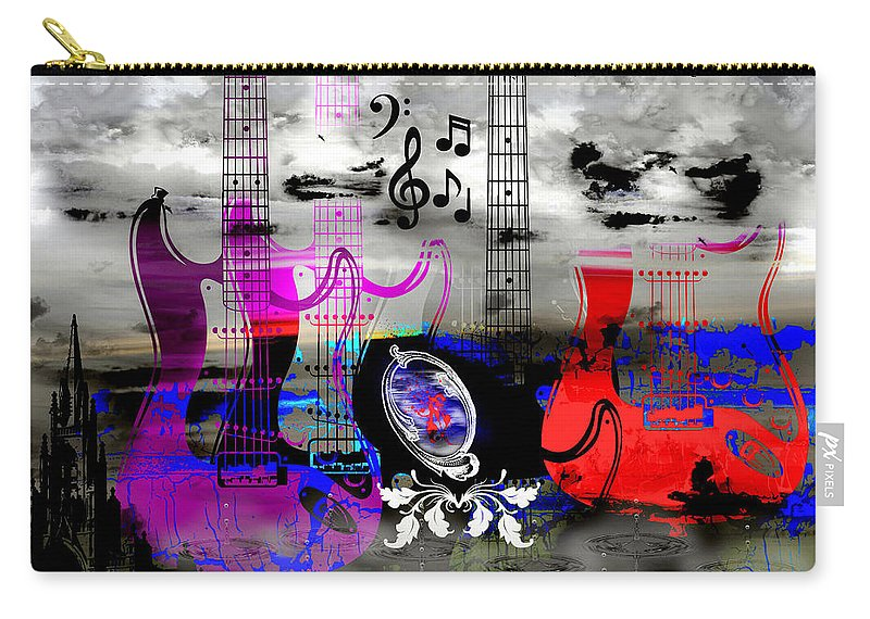 Rock Carry-all Pouch featuring the digital art Rock And Roll Fantasy by Michael Damiani