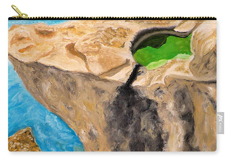 Rock Carry-all Pouch featuring the painting Rock by Augusta Stylianou