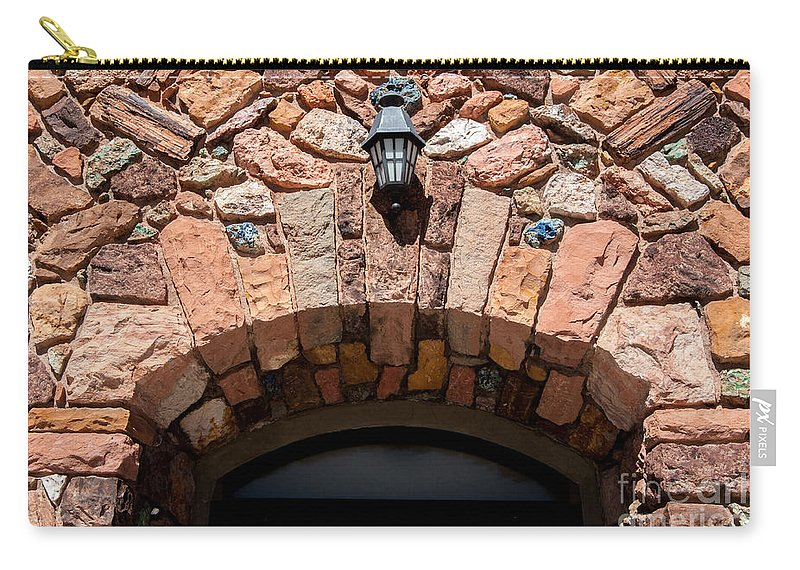 Archway Carry-all Pouch featuring the photograph Rock Church Stone Archway - Cedar City - Utah by Gary Whitton