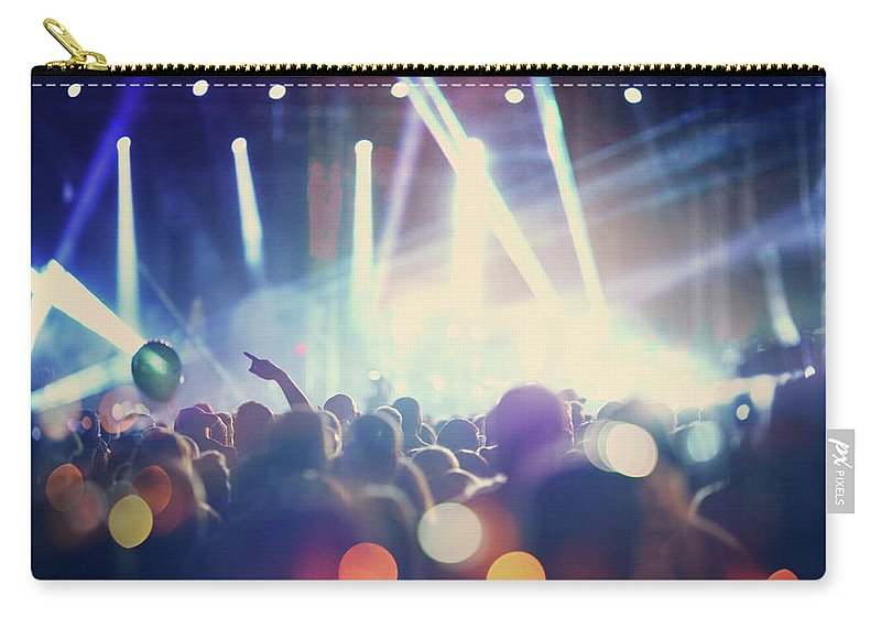 Event Carry-all Pouch featuring the photograph Rock Concert by Gilaxia