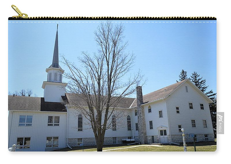 Lutheran Church Carry-all Pouch featuring the photograph Rock Creek Church by Bonfire Photography