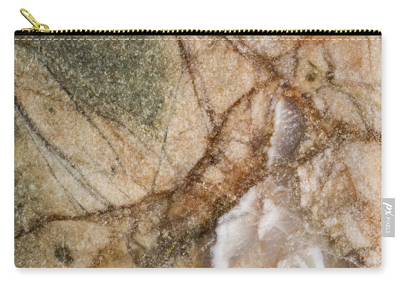 Rocks Carry-all Pouch featuring the photograph Rock Design by Jean Noren