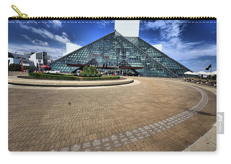 Architectural Art Carry-all Pouch featuring the photograph Rock On 3 by Robert McCubbin