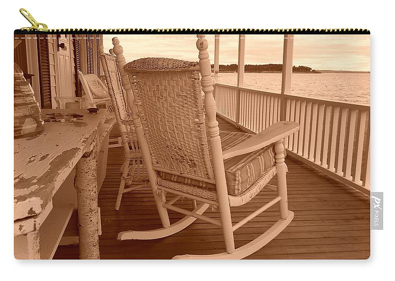 Rockingchair Carry-all Pouch featuring the photograph Rock The Day Away by Jean Goodwin Brooks