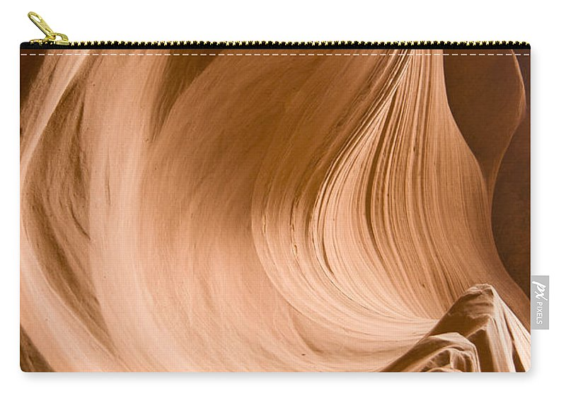 Canyon Carry-all Pouch featuring the photograph Rock Waves by Alexey Stiop