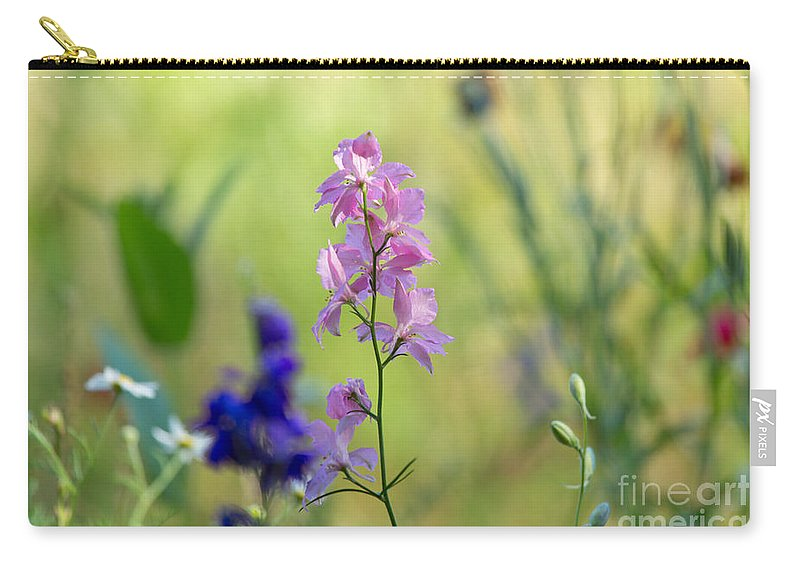 Rocket Carry-all Pouch featuring the photograph Rocket Larkspur by Louise Heusinkveld
