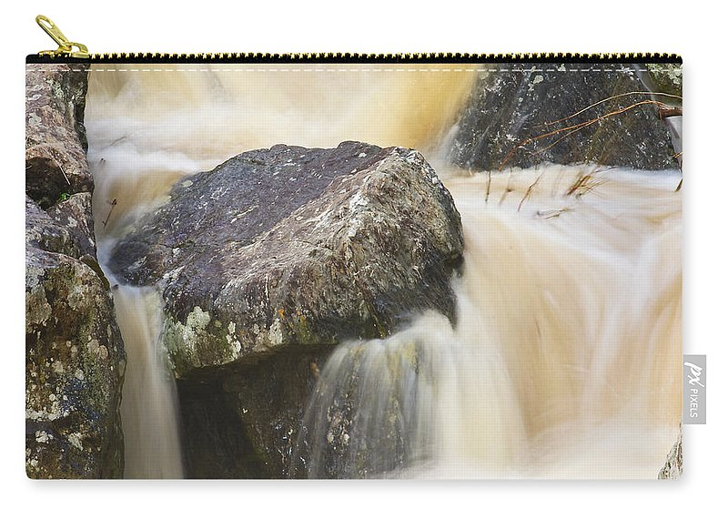 Great Falls Carry-all Pouch featuring the photograph Rocks And Rapids #2 by Stuart Litoff