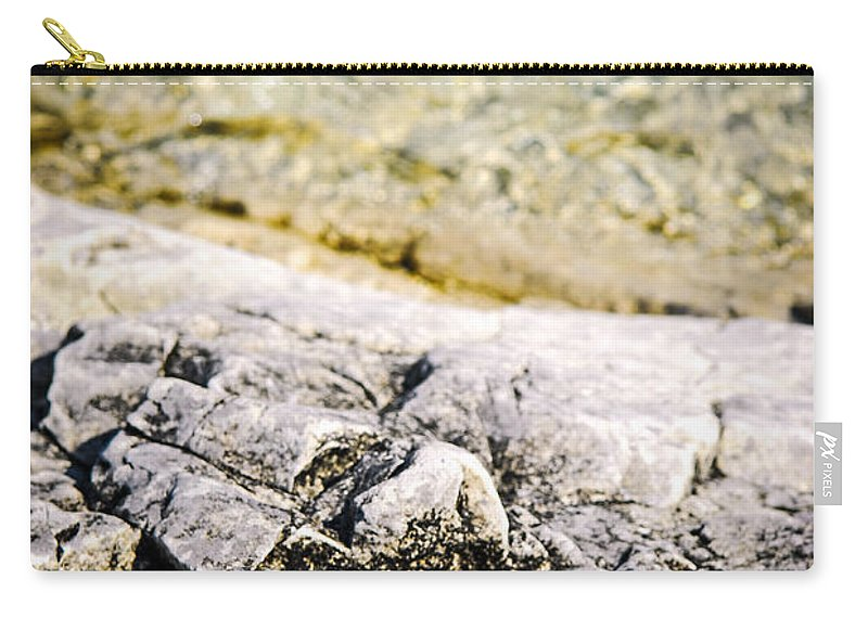 Rock Carry-all Pouch featuring the photograph Rocks At Georgian Bay by Elena Elisseeva