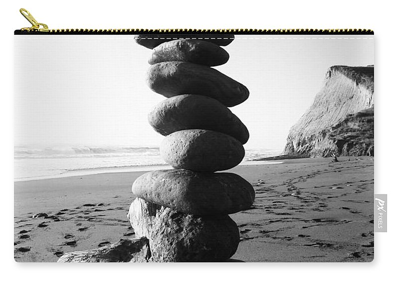 Country Carry-all Pouch featuring the photograph Rocks In Balance by Lorraine Devon Wilke
