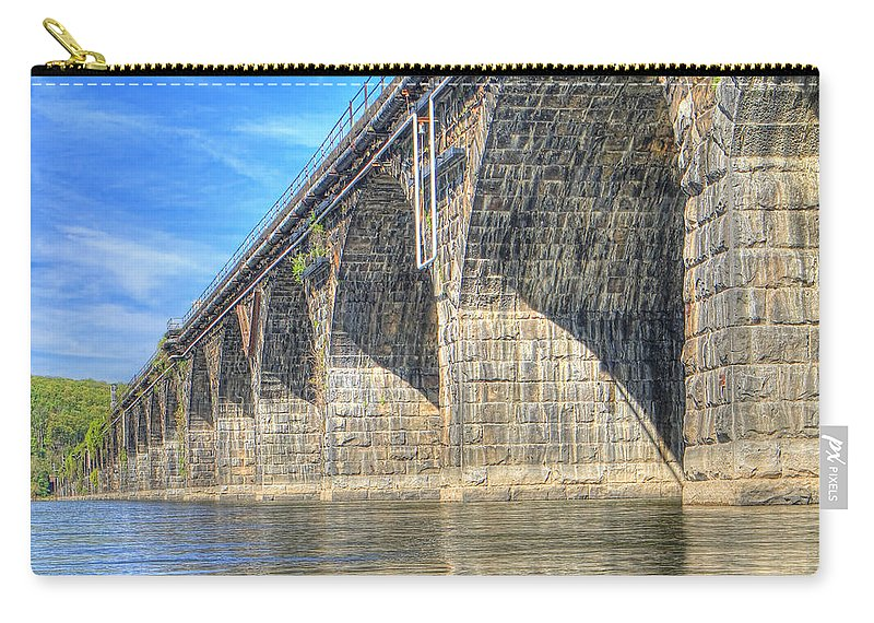 Harrisburg Carry-all Pouch featuring the photograph Rockville Bridge by Geoff Crego