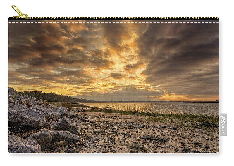Beach Carry-all Pouch featuring the photograph Rocky Beach by Phill Doherty