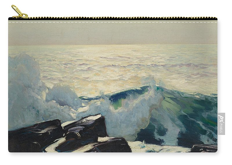 Frederick Judd Waugh Carry-all Pouch featuring the painting Rocky Coast And Sea by Frederick Judd Waugh