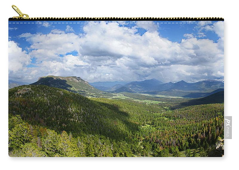 Rocky Mountain National Park Carry-all Pouch featuring the photograph Rocky Mountain National Park Panorama by Alan Hutchins
