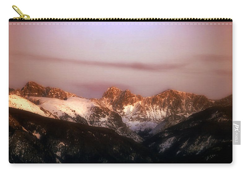Sunset Carry-all Pouch featuring the photograph Rocky Mountain Sunset by Ellen Heaverlo