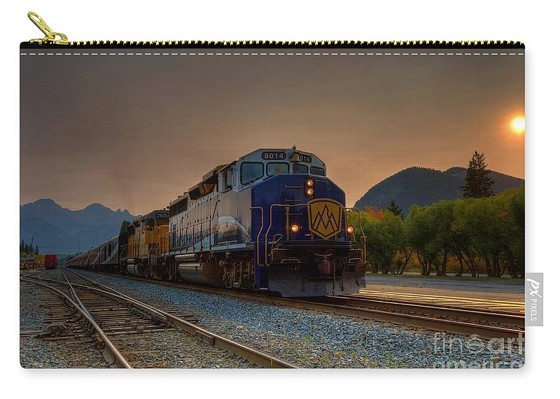 Banff Carry-all Pouch featuring the photograph Rocky Mountaineer Sunrise by James Anderson