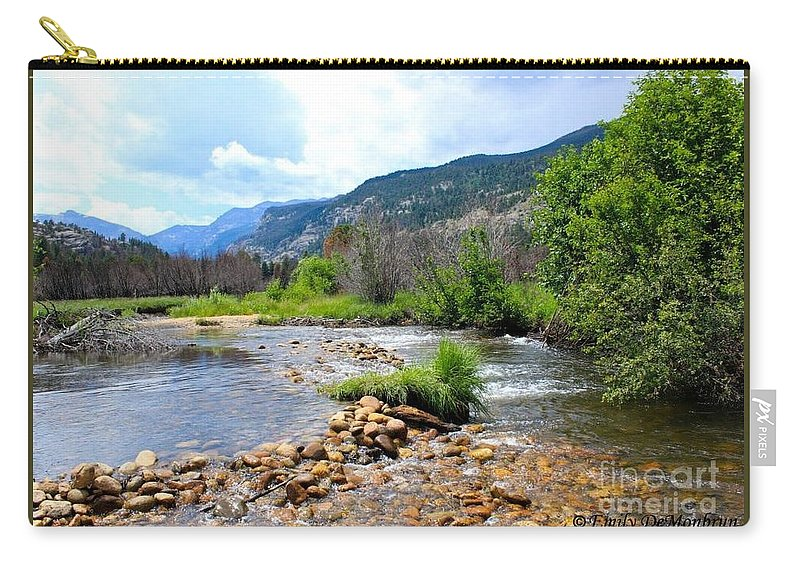 Wandering Stream In The Upper Mountains In Colorado Carry-all Pouch featuring the photograph Rocky Mountains by Hal Newhouser