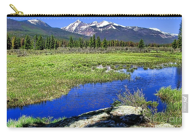 Colorado Carry-all Pouch featuring the photograph Rocky Mountains River by Olivier Le Queinec