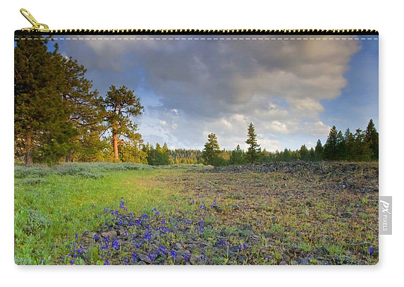 Larkspur Carry-all Pouch featuring the photograph Rocky Prairie Cloud Explosion by Mike Dawson