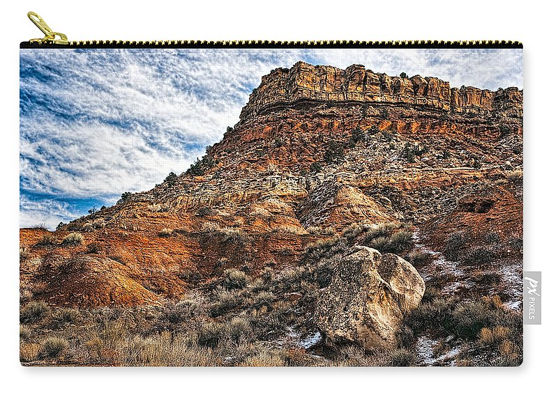 Utah Carry-all Pouch featuring the photograph Rocky Ridge by Christopher Holmes