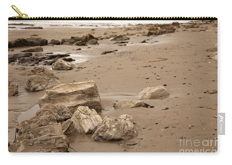 rocky Shore Carry-all Pouch featuring the photograph Rocky Shore by Amanda Barcon