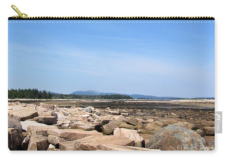 Acadia Carry-all Pouch featuring the photograph Rocky Shore To Rocky Mountain by Elizabeth Dow