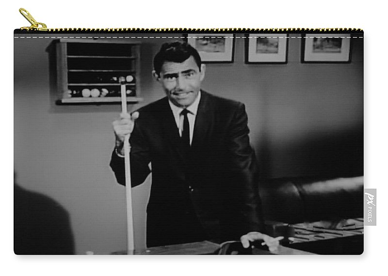 The Twilight Zone Carry-all Pouch featuring the photograph Rod Serling by Rob Hans
