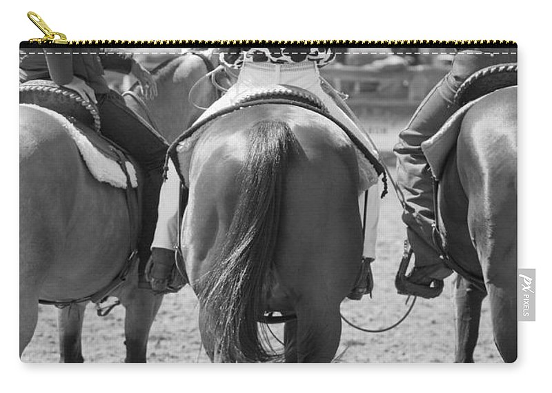 Rodeo Carry-all Pouch featuring the photograph Rodeo Bums by Michelle Wrighton