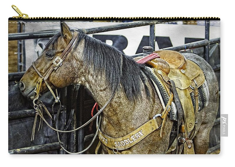 Horse Carry-all Pouch featuring the photograph Rodeo Horse Two by Alice Gipson