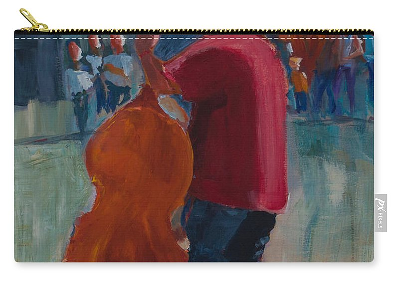 Art Carry-all Pouch featuring the painting Rodney by Paulette B Wright