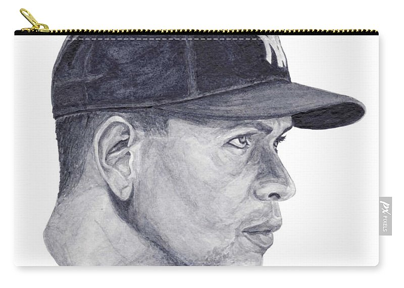 Alex Rodriguez Carry-all Pouch featuring the painting Rodriguez by Tamir Barkan